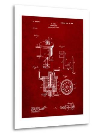 Ford Carburetor 1898 Patent-Cole Borders-Metal Print