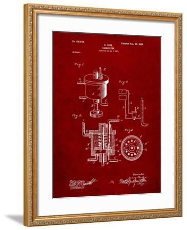 Ford Carburetor 1898 Patent-Cole Borders-Framed Art Print