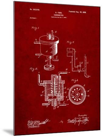 Ford Carburetor 1898 Patent-Cole Borders-Mounted Art Print