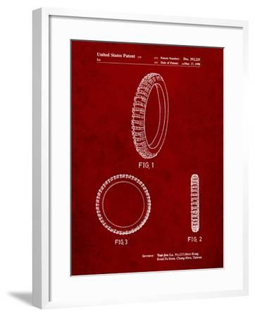 Mountain Bike Tire Patent-Cole Borders-Framed Art Print