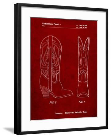 Texas Boot Company 1983 Cowboy Boots Patent-Cole Borders-Framed Art Print