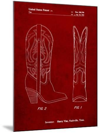 Texas Boot Company 1983 Cowboy Boots Patent-Cole Borders-Mounted Art Print