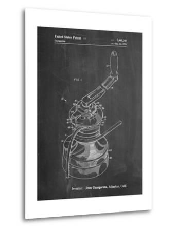 Sailboat Winch Patent-Cole Borders-Metal Print