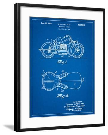 Indian Motorcycle Saddle Patent-Cole Borders-Framed Art Print