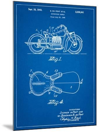 Indian Motorcycle Saddle Patent-Cole Borders-Mounted Art Print