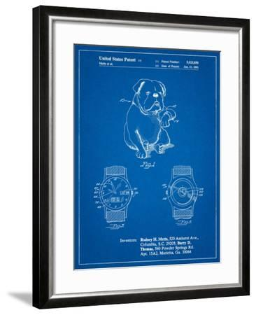 Dog Watch Clock Patent-Cole Borders-Framed Art Print