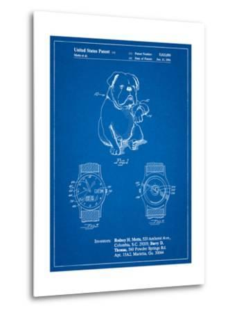 Dog Watch Clock Patent-Cole Borders-Metal Print