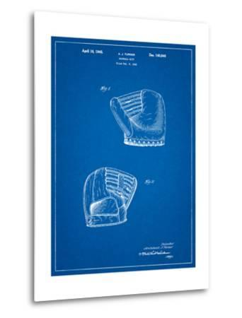 A.J. Turner Baseball Mitt Patent-Cole Borders-Metal Print