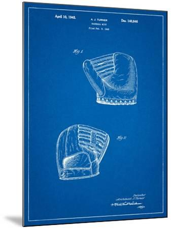 A.J. Turner Baseball Mitt Patent-Cole Borders-Mounted Art Print