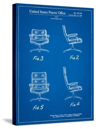 Eames Upholstered Chair Patent-Cole Borders-Stretched Canvas Print