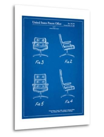Eames Upholstered Chair Patent-Cole Borders-Metal Print