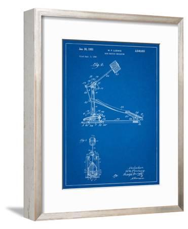 Drum Kick Pedal-Cole Borders-Framed Art Print