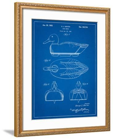 Duck Decoy Patent-Cole Borders-Framed Art Print