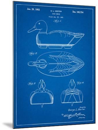 Duck Decoy Patent-Cole Borders-Mounted Art Print