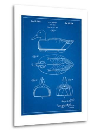 Duck Decoy Patent-Cole Borders-Metal Print