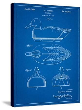 Duck Decoy Patent-Cole Borders-Stretched Canvas Print