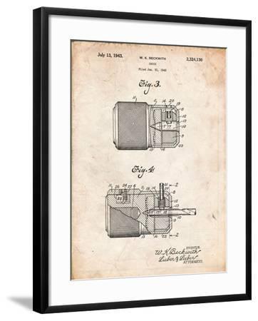 Drill Chuck 1943 Patent-Cole Borders-Framed Art Print