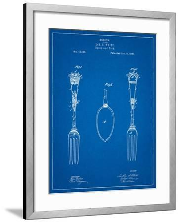 Antique Spoon and Fork Patent-Cole Borders-Framed Art Print