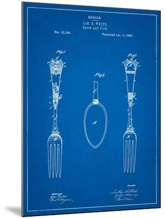 Antique Spoon and Fork Patent-Cole Borders-Mounted Art Print