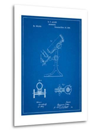 Antique Microscope Patent-Cole Borders-Metal Print