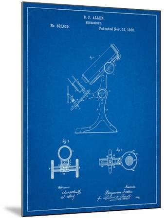 Antique Microscope Patent-Cole Borders-Mounted Art Print