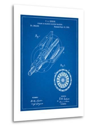 Edison Dynamo Electrical Generator Patent Print-Cole Borders-Metal Print