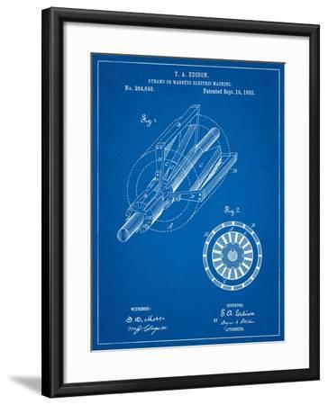 Edison Dynamo Electrical Generator Patent Print-Cole Borders-Framed Art Print