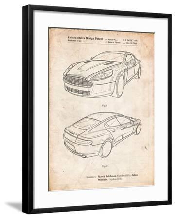 Aston Martin DBS Volante Patent-Cole Borders-Framed Art Print