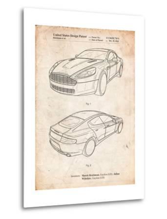 Aston Martin DBS Volante Patent-Cole Borders-Metal Print