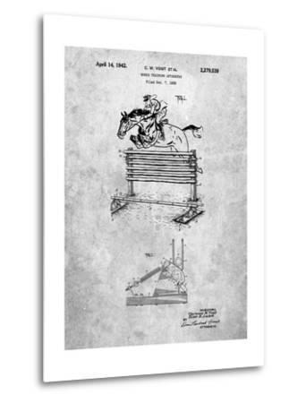 Equestrian Training Oxer Patent-Cole Borders-Metal Print