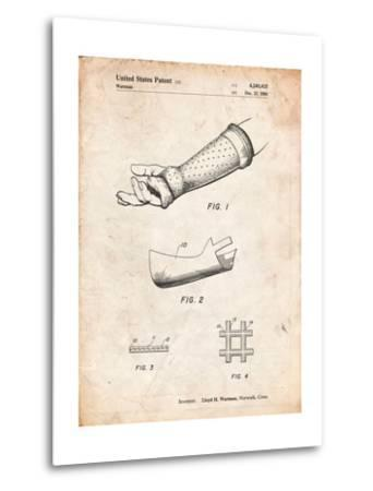 Orthopedic Hard Cast Patent-Cole Borders-Metal Print