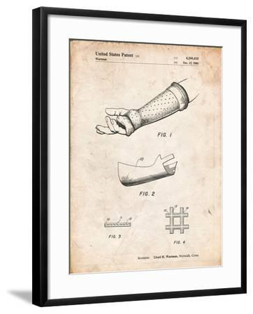 Orthopedic Hard Cast Patent-Cole Borders-Framed Art Print