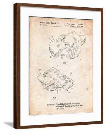 Fox 40 Coach's Whistle Patent-Cole Borders-Framed Art Print