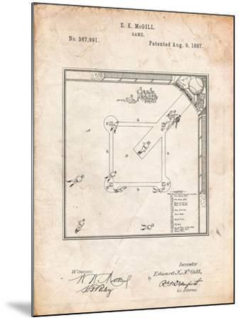 Our National Ball Game Patent-Cole Borders-Mounted Art Print