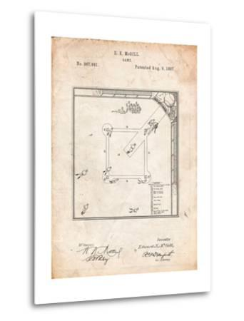 Our National Ball Game Patent-Cole Borders-Metal Print
