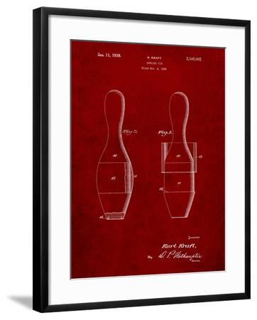 Bowling Pin 1938 Patent-Cole Borders-Framed Art Print