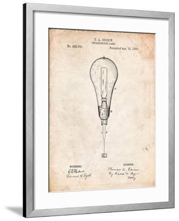 Outboard Motor Patent Art-Cole Borders-Framed Art Print