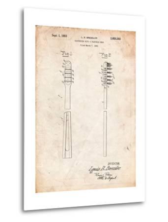 Toothbrush Flexible Head Patent-Cole Borders-Metal Print