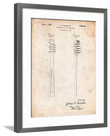Toothbrush Flexible Head Patent-Cole Borders-Framed Art Print