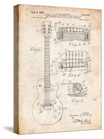 Gibson Les Paul Guitar Patent-Cole Borders-Stretched Canvas Print