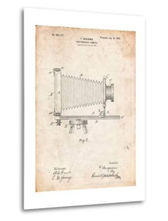 Photographic Camera Patent-Cole Borders-Metal Print