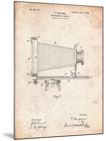 Photographic Camera Patent-Cole Borders-Mounted Art Print