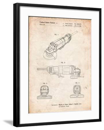 Grinder, Grinder Patent-Cole Borders-Framed Art Print