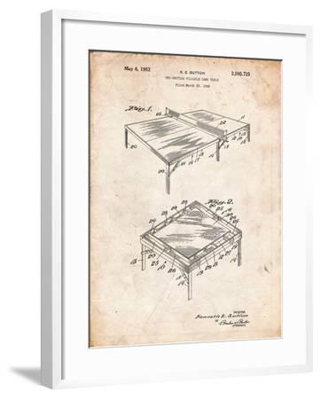 Ping Pong Table Patent-Cole Borders-Framed Art Print