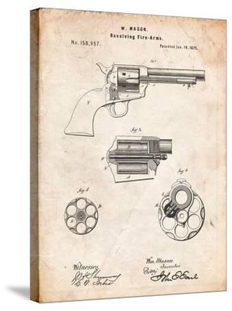 US Firearms Single Action Army Revolver Patent-Cole Borders-Stretched Canvas Print