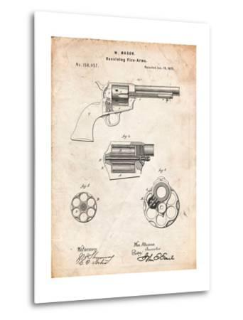 US Firearms Single Action Army Revolver Patent-Cole Borders-Metal Print