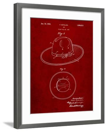 Wide Brimmed Hat 1937 Patent-Cole Borders-Framed Art Print