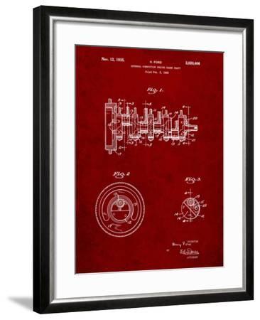 Combustion Engine Crank Shaft 1933-Cole Borders-Framed Art Print