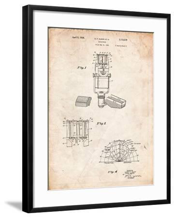 RCA Ribbon Microphone-Cole Borders-Framed Art Print