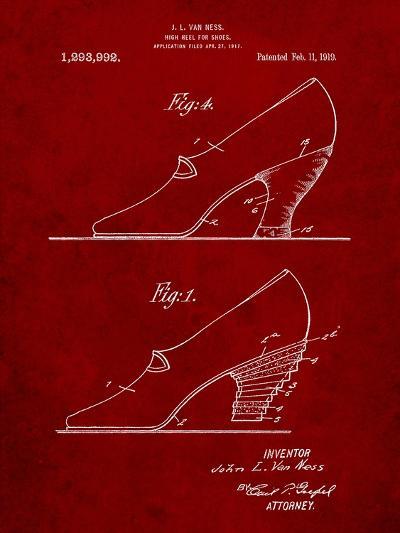 High Heel Shoes 1919 Patent-Cole Borders-Art Print
